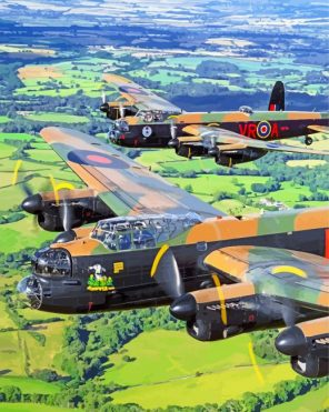 lancaster-airplane-england-paint-by-numbers