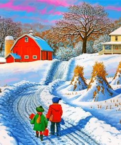 playing-in-the-snow-paint-by-numbers