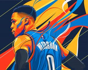 Russell Westbrook Illustration Paint by numbers