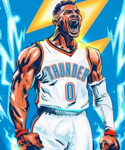 Russell Westbrook Paint by numbers