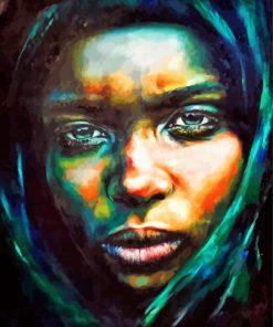 sad-black-woman-paint-by-number