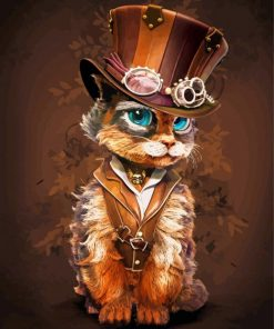Steampunk Kitty Paint by numbers