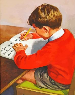 vintage-boy-studying-paint-by-number