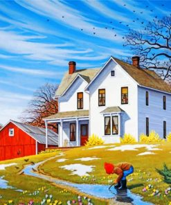white-house-and-barn-paint-by-numbers