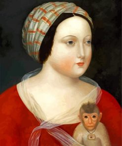 woman-and-her-little-monkey-paint-by-numbers