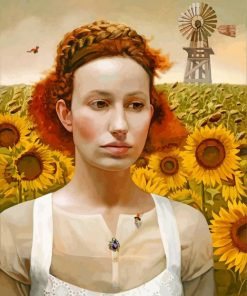 woman-and-sunflowers-paint-by-number