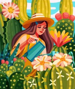 woman-taking-care-of-her-plants-paint-by-numbers