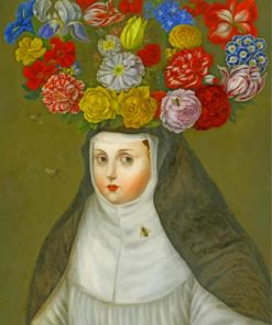woman-wearing-crown-flowers-paint-by-number