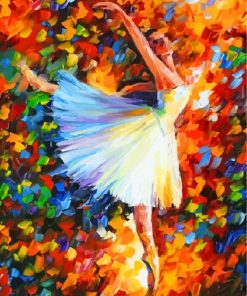 Abstract Ballerina Paint by numbers