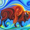 Abstract Buffalo Paint by numbers