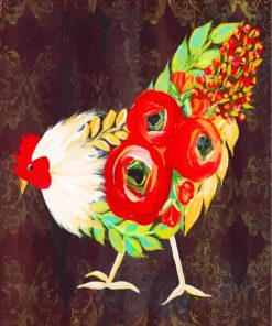 Abstract Rooster Paint by numbers