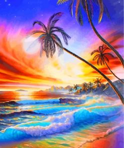 Aesthetic Beach Waves Paint by numbers