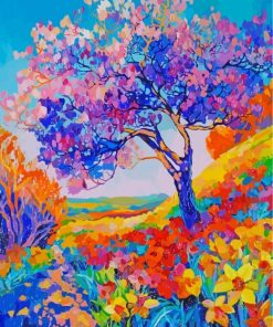 Aesthetic Colorful Nature Art Paint by numbers