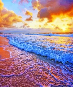 Aesthetic Sunset Beach Paint by numbers