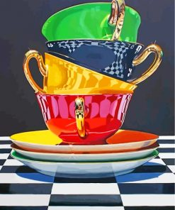 Aesthetic Teacups Paint by numbers