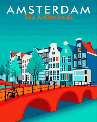 Amsterdam Netherlands Paint by numbers