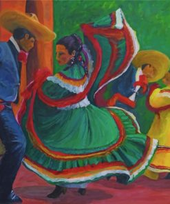 Baile Folklorico Paint by numbers