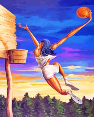 Basketball Player Paint by numbers