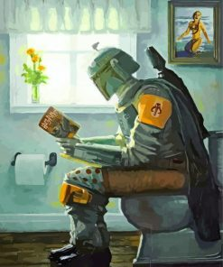 Boba Fett In Toilette Paint by numbers