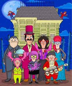 Bobs Burgers Halloween Paint by numbers