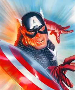 Captain America Hero Paint by numbers