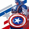 Captain America Illustration Paint by numbers