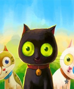Cartoon Cats Paint by numbers