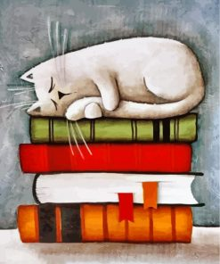 Cat On Books Paint by numbers