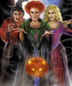 Christmas Witches Paint by numbers