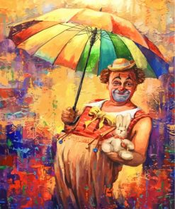Circus Clown Art Paint by numbers