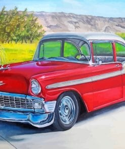 Classic Red Car Paint by numbers
