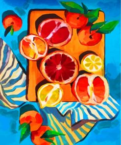 Clementine Still Life Paint by numbers