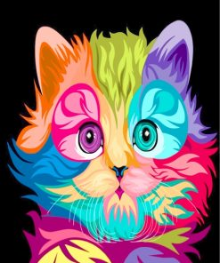 Colorful Kitten Paint by numbers