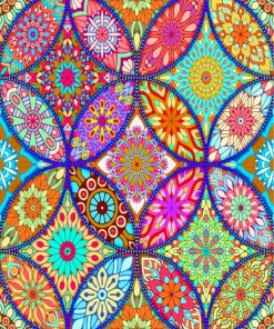 Colorful Mandala Art Paint by numbers