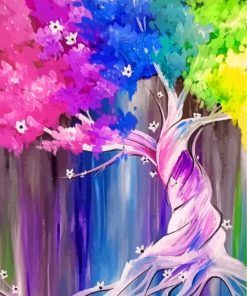 Colorful Tree Art Paint by numbers