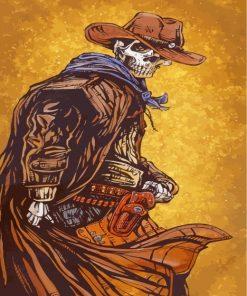 Cowboy Skeleton Paint by numbers