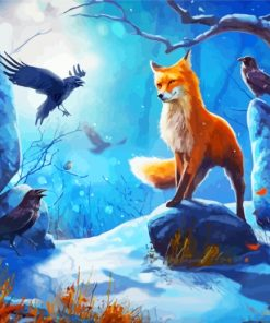 Crows And Fox Paint by numbers