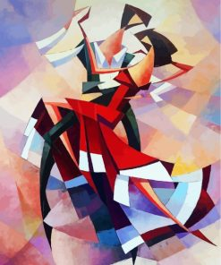 Cubism Flamenco Dancers Paint by numbers