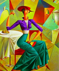 Cubism Lady Paint by numbers