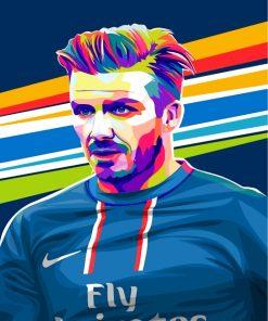 David Beckham Pop Art Paint by numbers