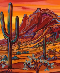 Desert Art Paint by numbers