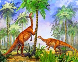 Dinosaurs Animals Paint by numbers