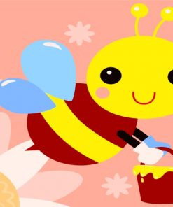Easy Bee Paint by numbers