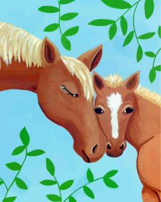 Easy Horses Paint by numbers