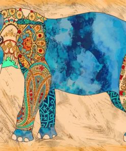Elephant Art Paint by numbers