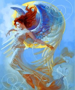 Fantasy Angel Girl Paint by numbers