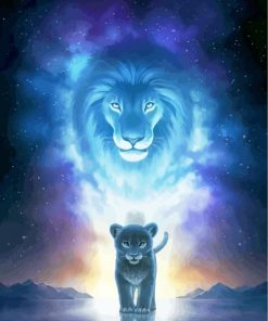 Fantasy Lion King Paint by numbers
