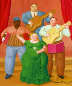 Fat Musicians Group Paint by numbers