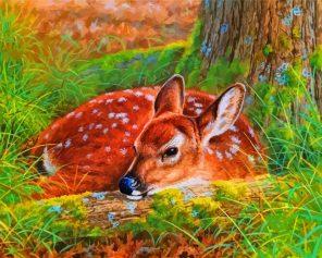 Female Deer paint by numbers