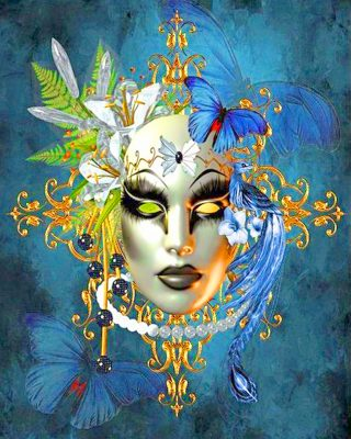 Female Venetian Mask Paint by numbers